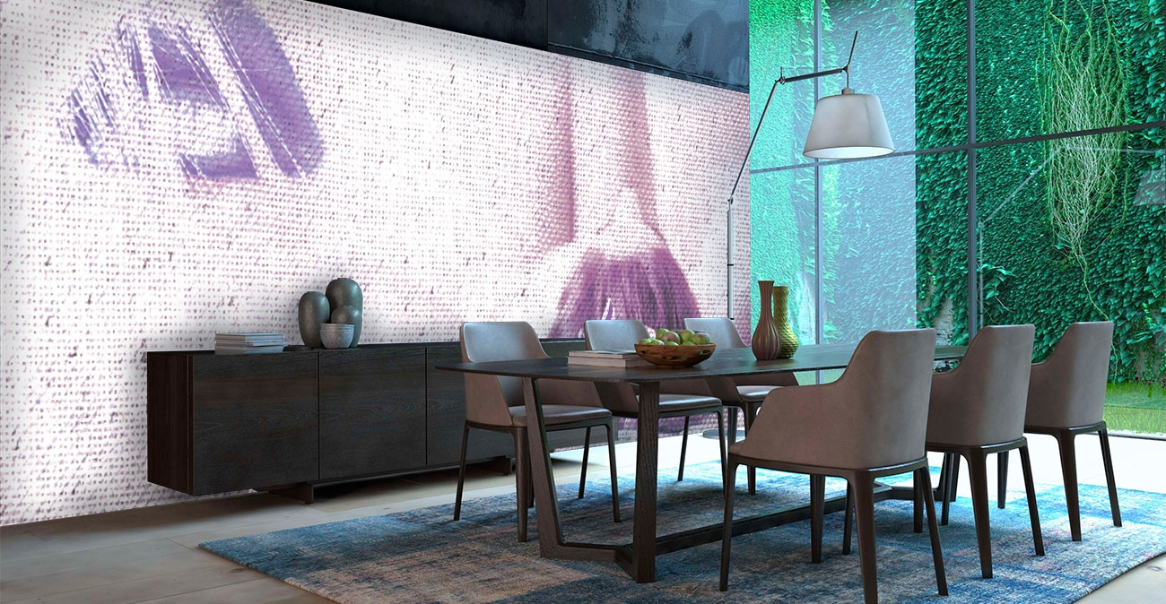 Modern Design White Dining Room Interior Architecture. 3d rendering